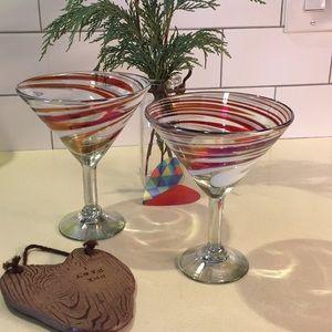 Handmade martini glass set